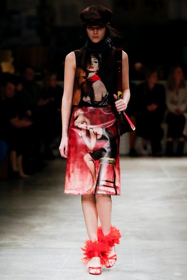 Prada Fall '17 Fellini 's City of Women Skirt *NEW*