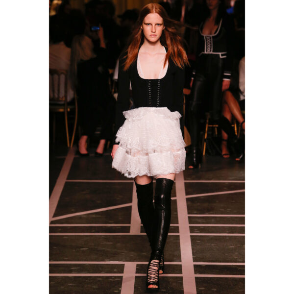 Givenchy Runway S/S'15 Cropped 'Joan of Arc' Longsleeve Corset