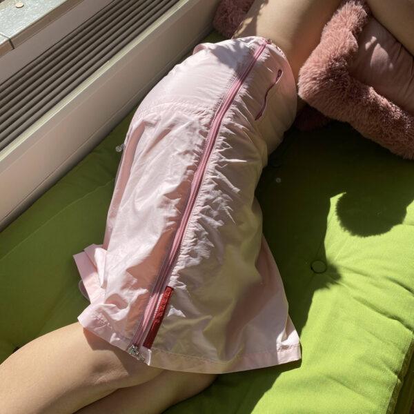 Prada Linea Rossa Sakura Technical Skirt