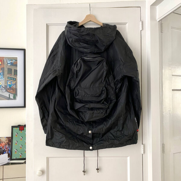 Gianfranco Ferre Convertible Hooded Shell Jacket *NEW*