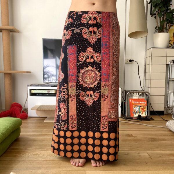 Issey Miyake SS'01 Batik Maxi Skirt