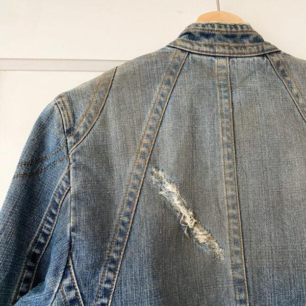Dolce & Gabbana Distressed Denim Jacket Rubbed in Dessert
