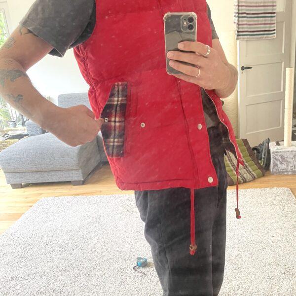 Comme Des Garçons Homme Red Down Vest