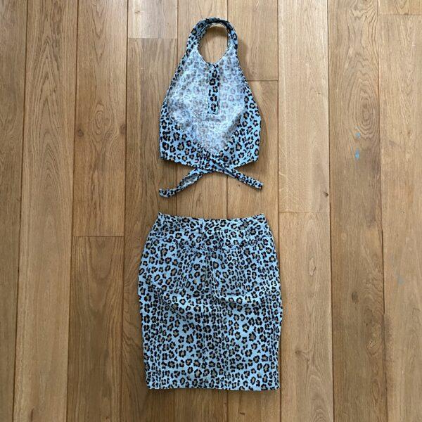 Fendi Baby Blue Leopard Set