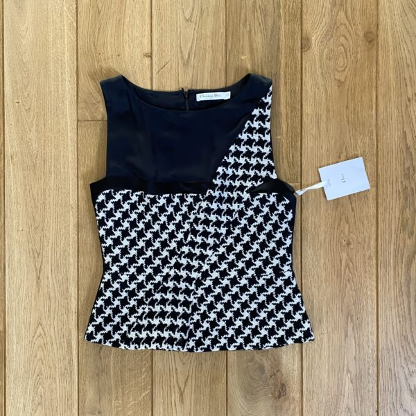 Dior F/W '13 by Raf Simons Houndstooth Bustier