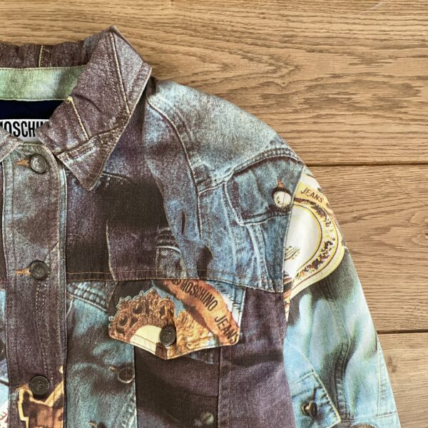 """Moschino Jeans Early 90s """"Basic Jeans"""" Quilted Jacket"""