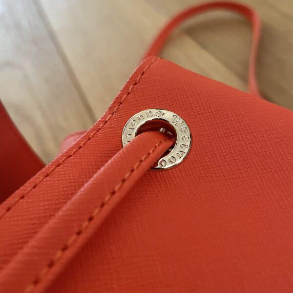 Vivienne Westwood Pimlico Tangerine Orange Bucket Shoulder Bag
