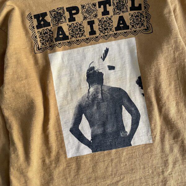 Kapital Ocher Yellow '0507 First Nations' Headdress Logo Pocket Longsleeve